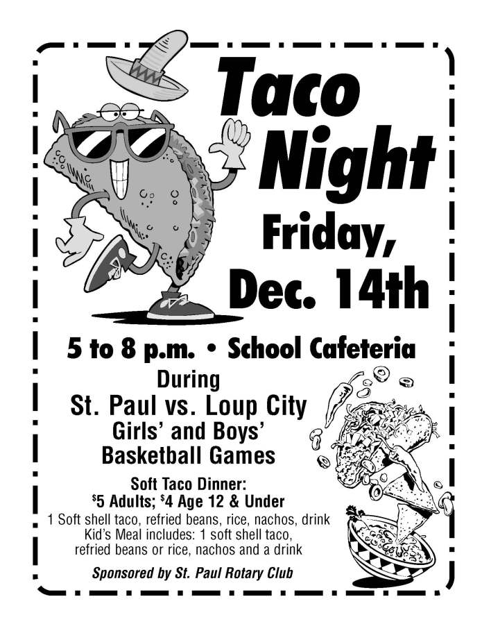Rotary Taco Night flyer '12